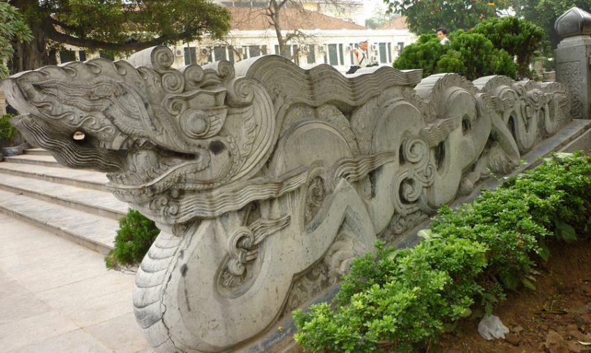 Tượng rồng đá phong thủy, được điêu khắc từ đá tự nhiên