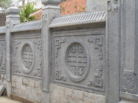 Mẫu lan can đá chữ Thọ tròn