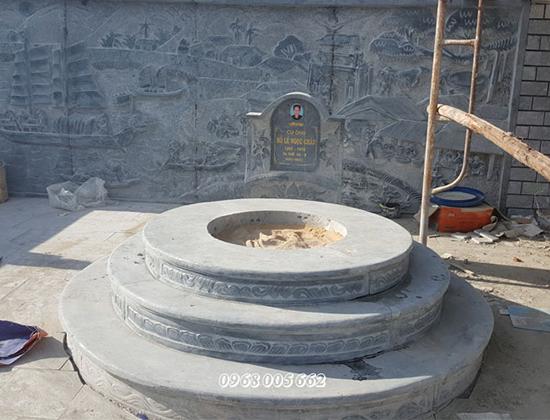Giá mộ đá tròn tùy thuộc vào từng mẫu, chất liệu đá, kích thước mộ