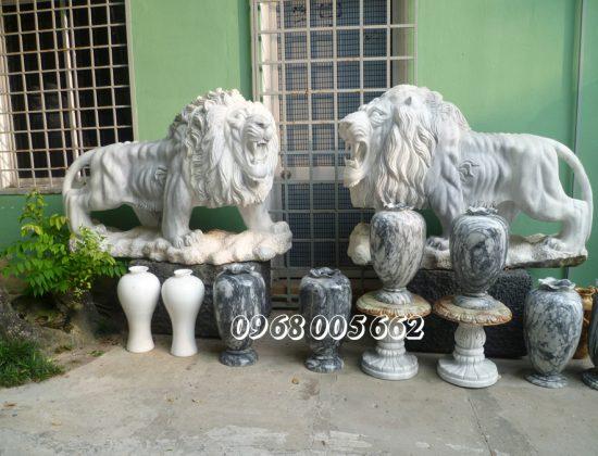 Khi sử dụng tượng sư tử đặt trước cửa cần tham khảo ý kiến chuyên gia phong thủy