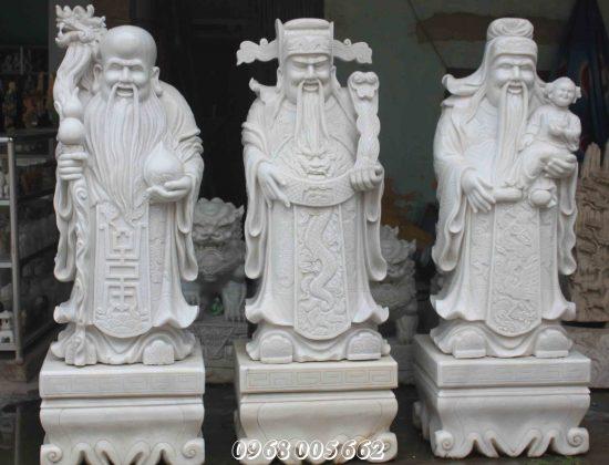 Bộ tượng Phúc Lộc Thọ bằng đá có ý nghĩa tốt đẹp trong cuộc sống