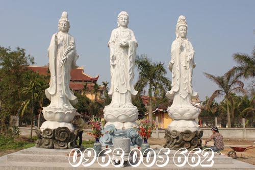 Thờ tượng Tam Thế Phật để cầu bình an cho toàn gia