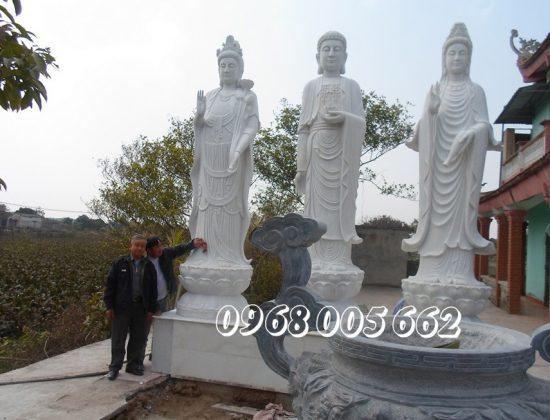 Công ty đá Xuân Mạnh là cơ sở sản xuất tượng Tam Thế Phật uy tín chất lượng