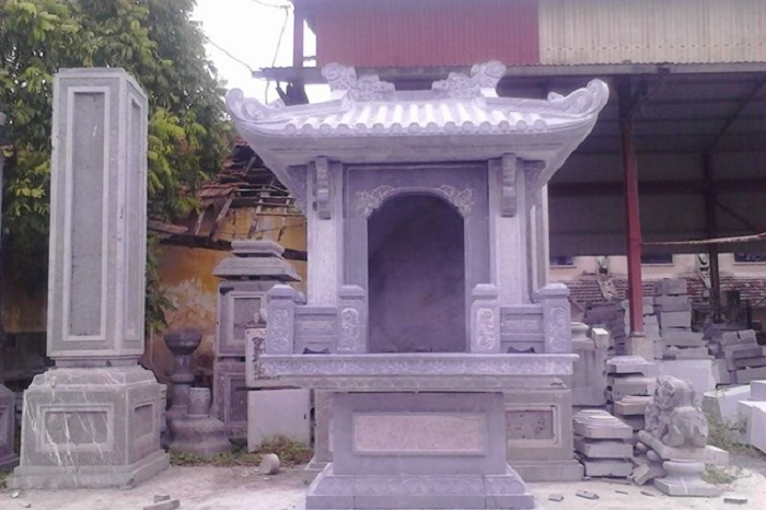 Mẫu am thờ bằng đá có mái