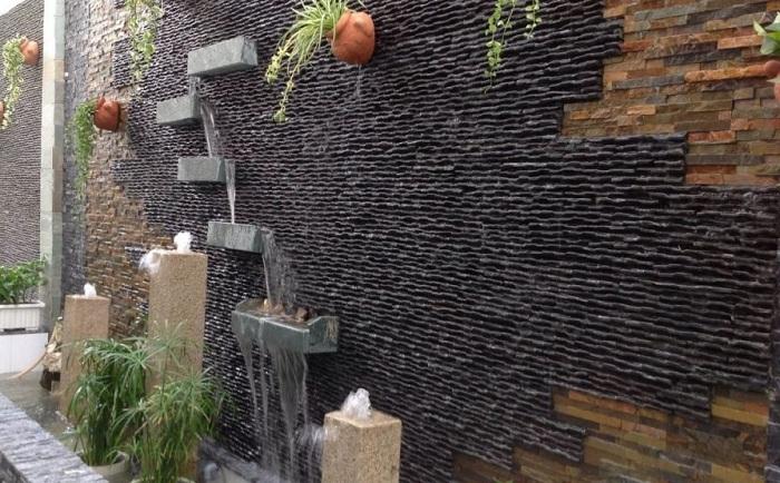 Ứng dụng làm đá ốp tường thác nước