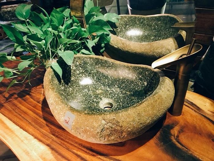 Bồn rửa mặt đá tự nhiên có tính thẩm mỹ cao